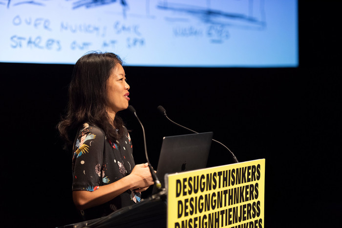Karin Fong speaking at DesignThinkers Vancouver 2019