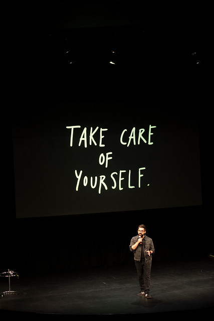 Austin Kleon speaking at DesignThinkers Vancouver