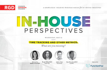 In-House Perspectives Webinar. Time tracking and other metrics: what are you missing? Sponsored by Function Fox. Featuring Kathleen Scott RGD, Wendy Millard RGD, Andrew Flaro and Chris Moorehead RGD