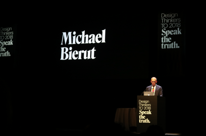 Michael Bierut on stage