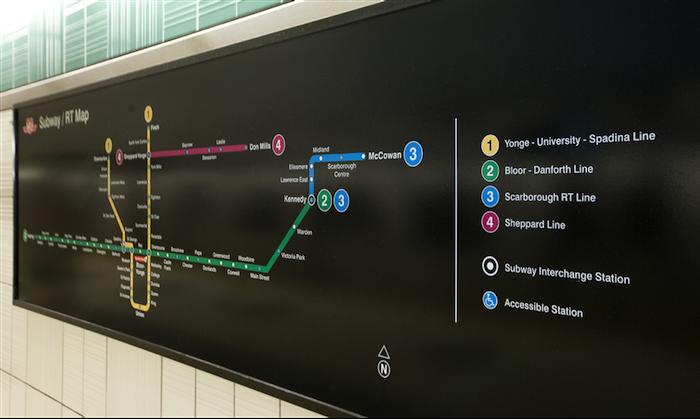 Toronto Subway Map Poster.Ttc Signage System Improves Wayfinding For Third Largest