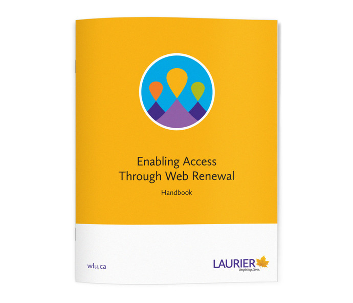 "Front of handbook. Cover reads ""Enabling Access Through Web Renewal handbook""."