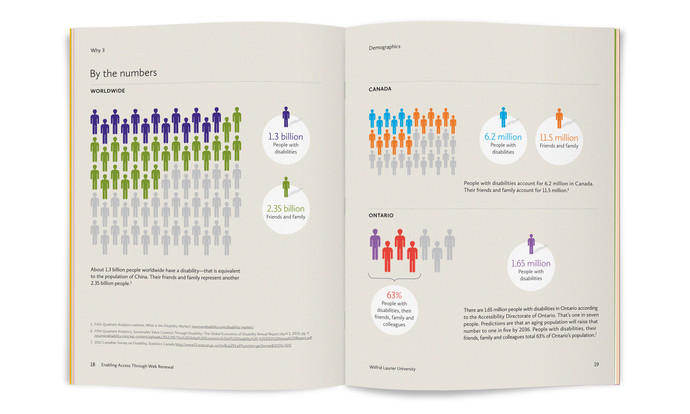 Open handbook. The book is open to a page featuring a large infographic.