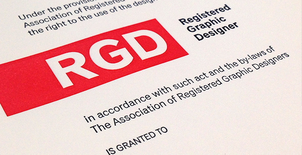 Close-up of RGD Certificate
