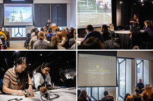 Collage of in-house conference images